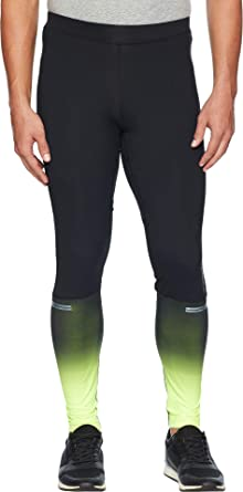 4c60c49ec5a60 Brooks Men's Nightlife Greenlight Tights Black/Nightlife/Reflective Stripe  XX-Large 30 30