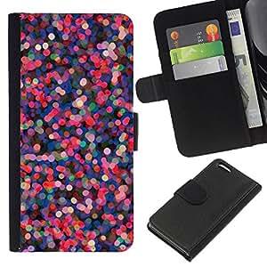 For Apple Iphone 5C Case , Lights Tree Holiday Pink Purple - la tarjeta de Crédito Slots PU Funda de cuero Monedero caso cubierta de piel