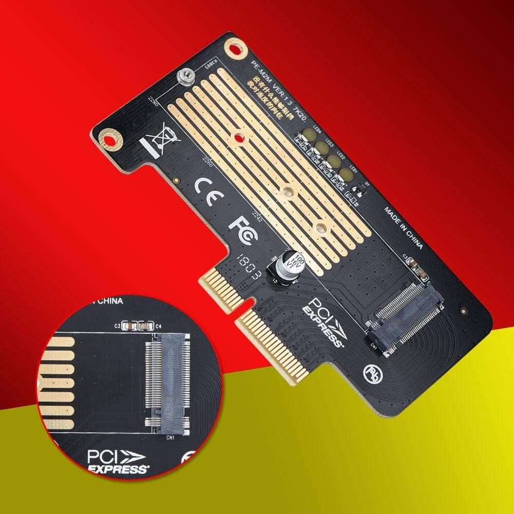 etc PLEXTOR M6E//M8PR fosa NGFF M.2 Mkey NVME SSD to PCI-E 4X Adapter Extender Riser Card for Samsung Intel 600P Support PCI-E Gen3 Standard and Gen1//Gen2 Compatible