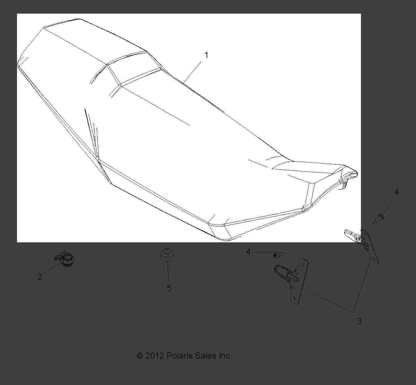 Polaris 2014-2017 Scrambler Xp 850 Ho E Intl Scrambler Xp 1000 Ho E Covering Seat Scr Blk//Wht 2685917 New Oem