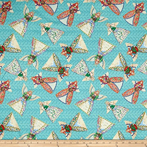 Springs Creative Products Jim Shore Angel Toss Aqua Fabric by The Yard