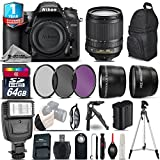 Holiday Saving Bundle for D7200 DSLR Camera + 18-105mm VR Lens + 64GB Class 10 Memory Card + Backpack + 1yr Extended Warranty + Flash + 0.43X Wide Angle Lens + 2.2x Telephoto - International Version