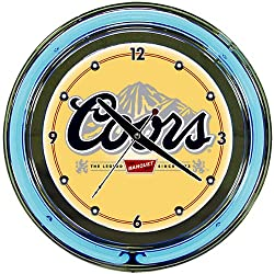 Trademark Gameroom Coors Banquet Chrome Double Ring Neon Clock, 14
