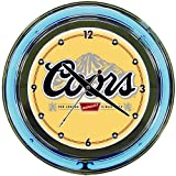Coors Banquet Chrome Double Ring Neon Clock, 14''