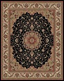 "Conur Collection Medallion Design Traditional Oriental Persian Style Area Rug Rugs (Black, 5'3″x6'11"") Review"