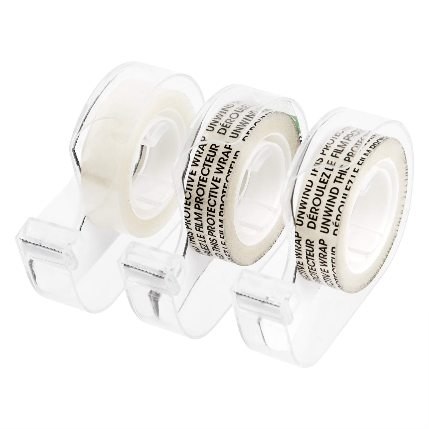 1//2 x 7 yds basics Double Sided Tape with Dispenser Narrow Width 3//Pack Caddy Engineered for Bonding