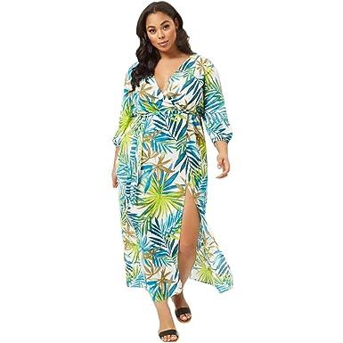 Cocoty-store 2019 Vestido de Verano Mujer Impresión Maxi Vestidos ...
