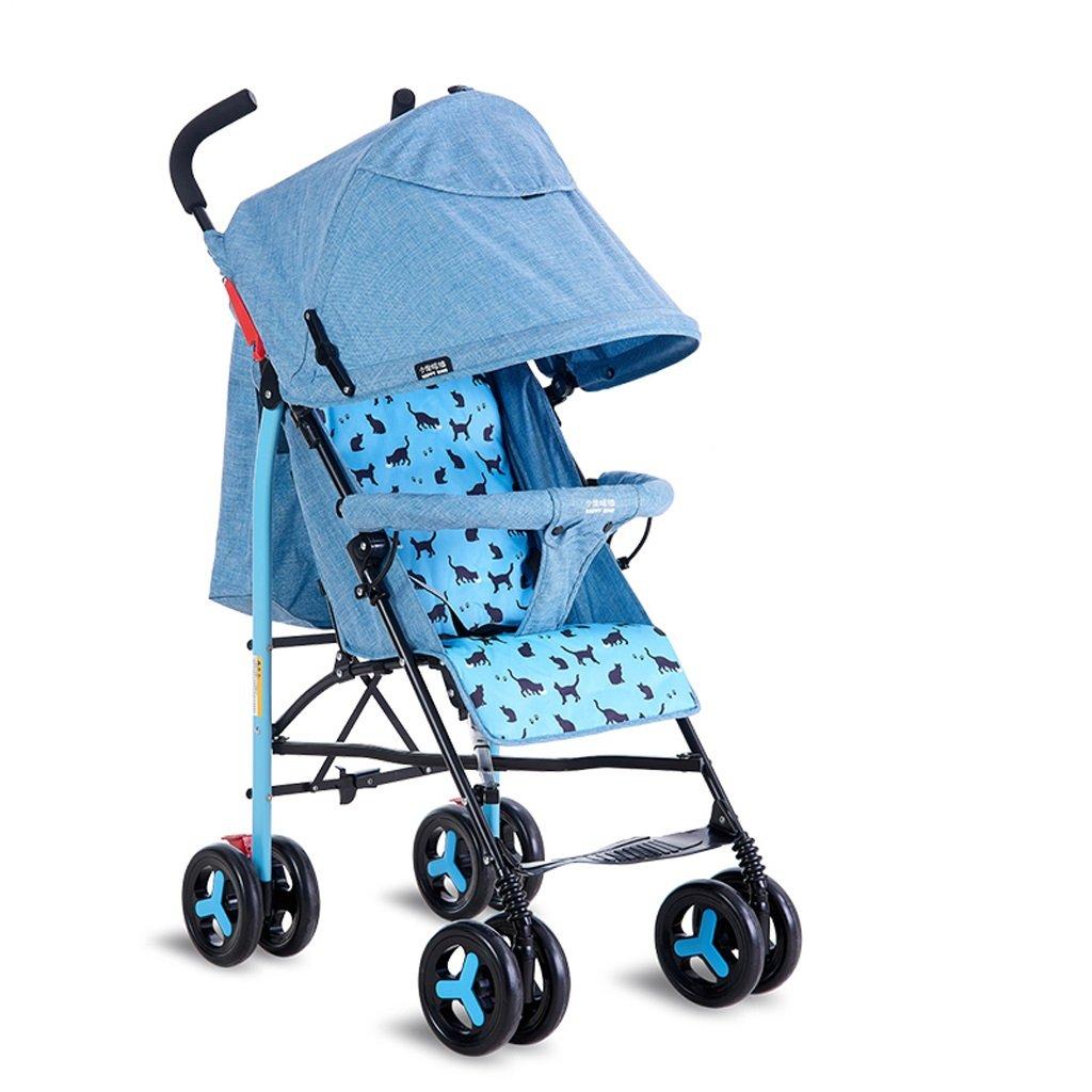 ベビーベビーカー軽量ポータブルリバーシブル子供用トロリー(ブルー)(ピンク)65 * 48 * 100cm ( Color : Blue ) B07BV6ZC2S