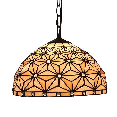 Lámpara de techo estilo Tiffany hecho a mano lustre Floral ...