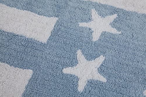 Flag American//Baby Blue Lorena Canals Washable Rug