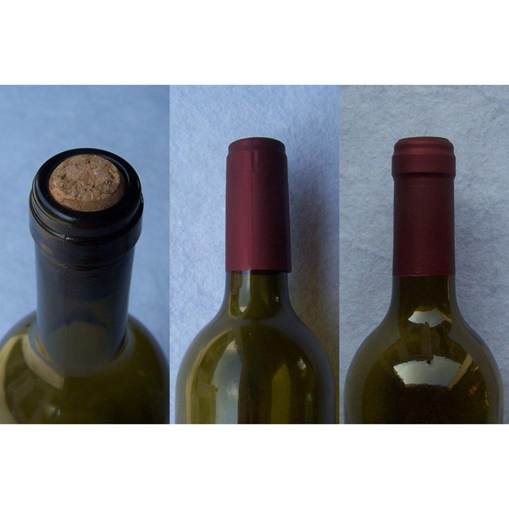 Kottca - 10 cápsulas termorretráctiles para botellas de vino 30x60mm/1.18x2.36