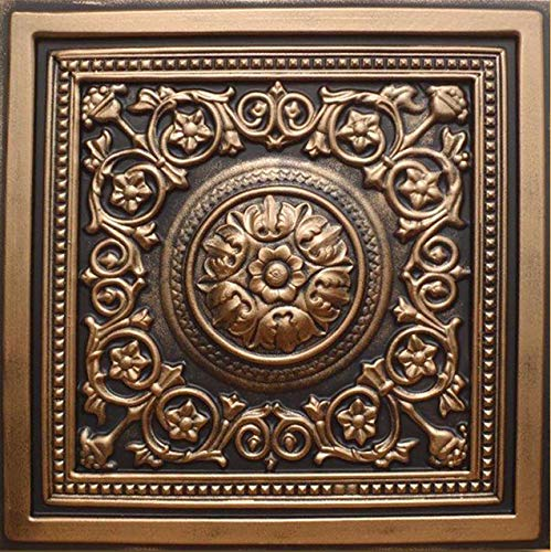30pc of Majesty Bronze Black 24 x24 PVC 20 mil Ceiling Tiles – Covers About 120sqft