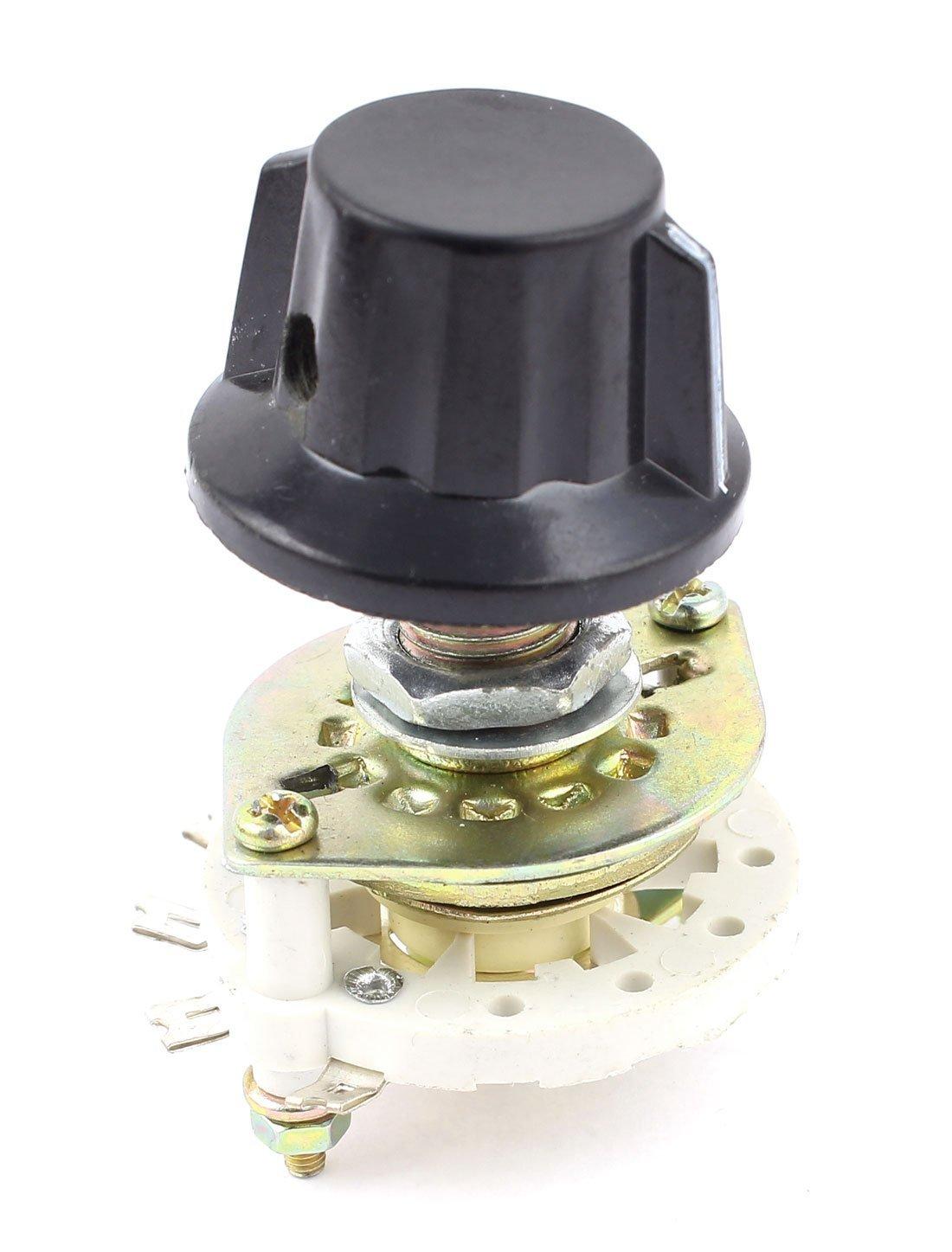 Amazon.com: Interruptor de canal de banda guitarra Seleccionar Rotary 1 Pole Posición 6 1P6T w Perilla: Musical Instruments