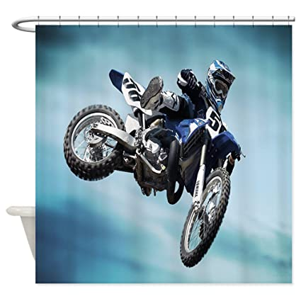 Image Unavailable Not Available For Color CafePress Dirt Bike Jump Decorative Fabric Shower Curtain