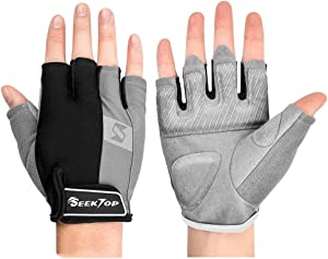 Seektop Gym Gloves Workout Gloves Weight Lifting Gloves for Men, Women's Exercise Gloves for Powerlifting, Gym, Full Palm Protection, Breathable & Non-Slip