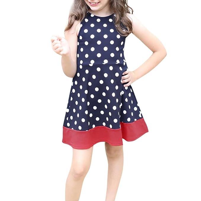 Beikoard Niña Vestido Liquidación, Falda de Tul niña Chicos Chicas Mini Vestido sin Mangas de