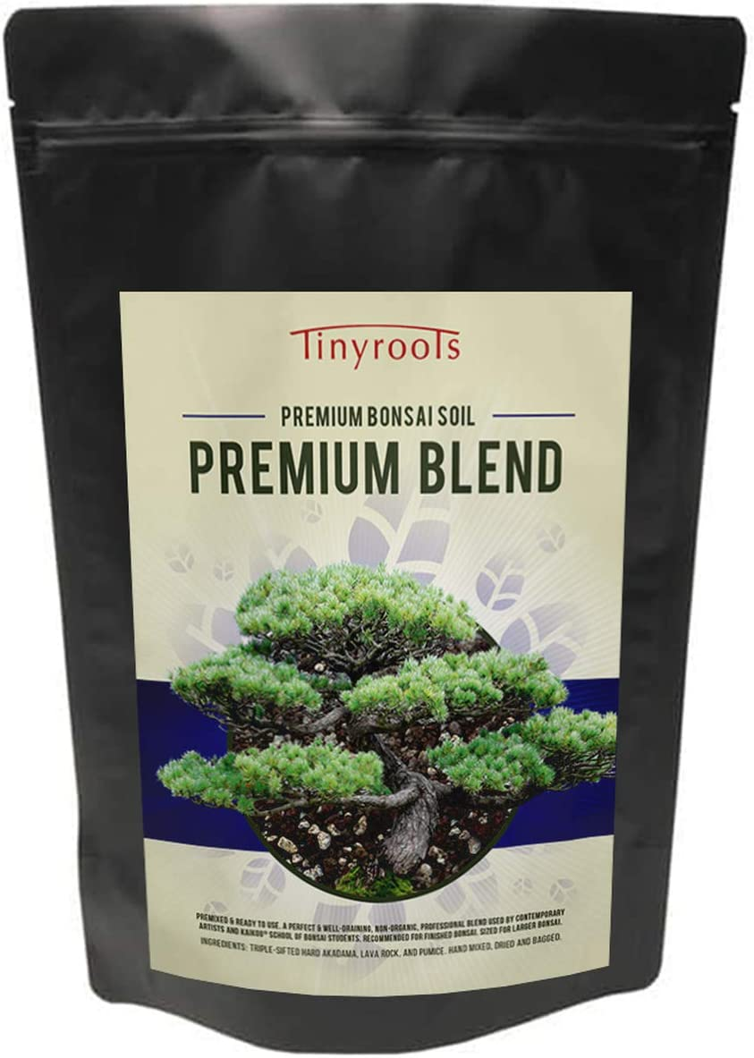 Bonsai Soil Premium by Tinyroots- Organic Soil Mix, Excellent for Water Retention and Root Development + Made from Genuine Akadama, Red Lava Rock and Pumice (2 Quarts)