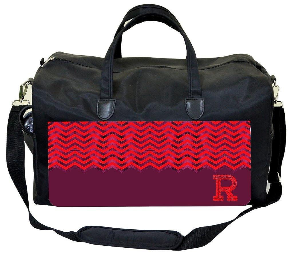 Purple-Pink Grungy Chevrons Personalization Custom Therapist Bag
