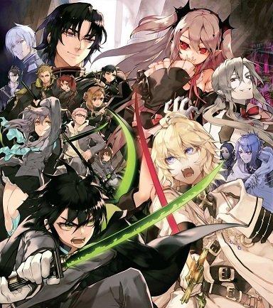 Poster Owari no Seraph Anime (13 x 19)