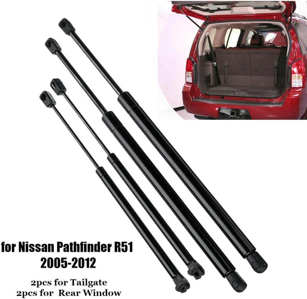 Lunette arri/ère Lift soutient Strut Chocs Fit Nissan Pathfinder R51 2005-2012 L/&U 4pcs Hayon gaz Struts