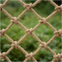 Hemp Rope Net Ceiling Net Hanging Net Partition Protection Net Stair Rope Net Safety Net Decorative Net (Color : Rope…