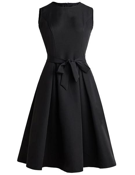 7da4ec01a4 EEAMDRK Women's Elegant Audrey Hepburn 1950s Vintage Dress