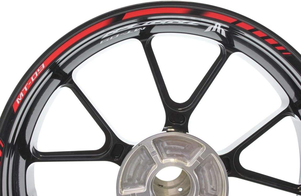 Impressiata Yamaha Mt 09 Tracer Motorrad Felgenrandaufkleber Specialgp Rot Komplettset Aufkleber Sticker Auto