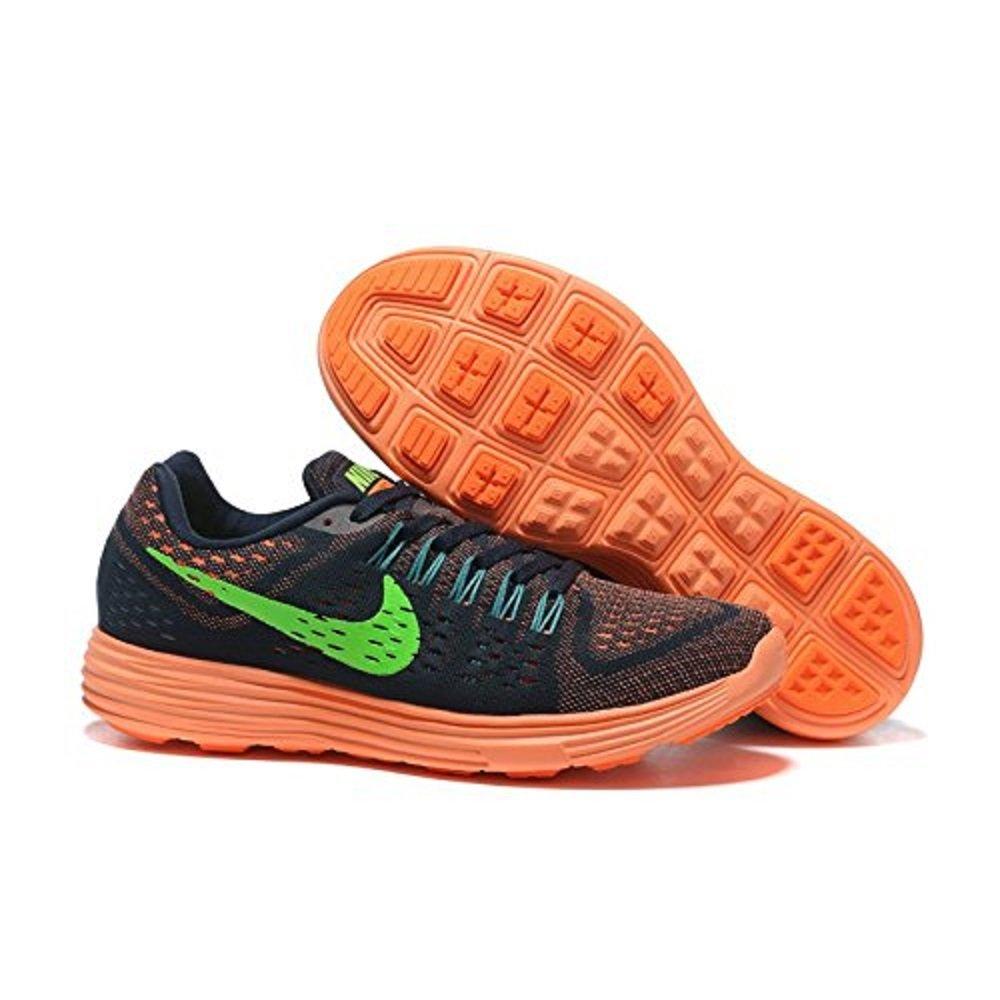 new arrival cdf5a 36da6 Amazon.com  705461-404 Nike Mens Lunartempo Dark Obsidian Total Orange Radiant  Emerald Voltage Green Size 12.5  Shoes