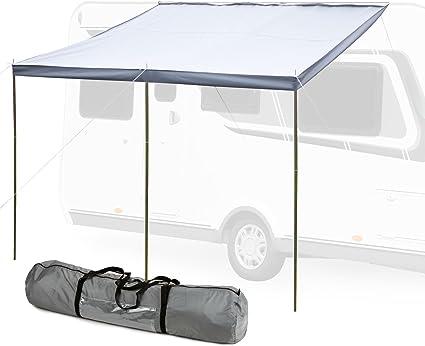 Hypercamp Sonnensegel Sunny 300 Für Kederleisten 7 Mm 300 X 240 Cm Inkl Stangen Heringe Leinen Für Wohnwagen Wohnmobile Und Bus Auto