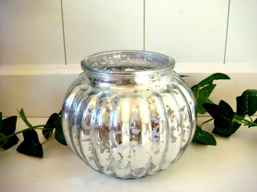 Amazon.de: Windlicht aus Glas rund Teelichthalter Kugelwindlicht ...