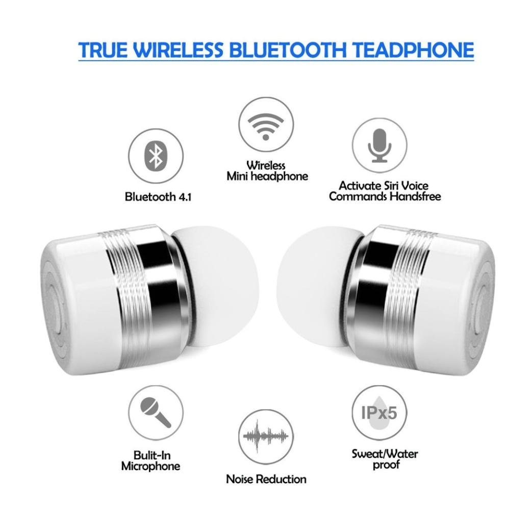 Amazon.com: True Wireless Earbuds, Portable Power Bank with Bluetooth In-Ear Earbuds Stereo Earphones (White): Home Improvement