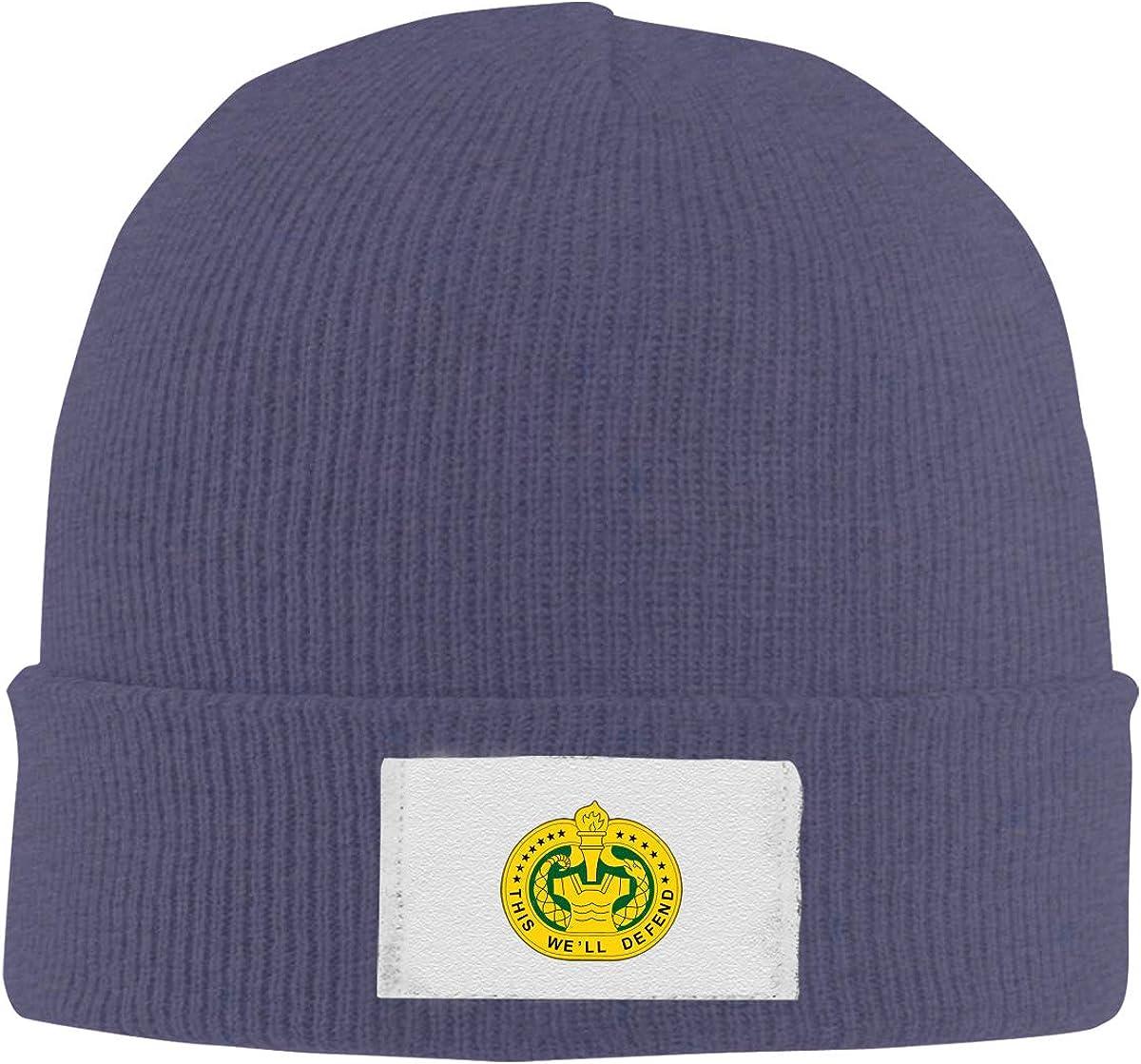 Dunpaiaa Skull Caps U S Army Drill Sergeant Logo Winter Warm Knit Hats Stretchy Cuff Beanie Hat Black
