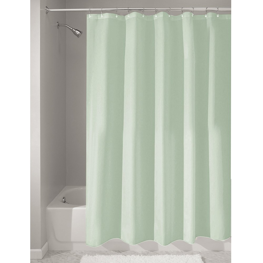 Hookless fabric shower curtain with built in liner taupe diamond pique - Interdesign 72 Inch By 72 Inch Fabric Waterproof Shower Curtain Liner