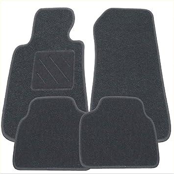 Für Opel Astra F ohne Klimaanlage Fußmatten 4-teilig in Velours Deluxe schwarz