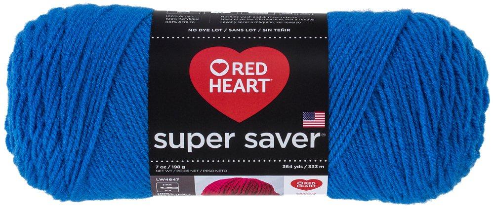 Red Heart E300.0886Super Saver Yarn, Blue