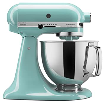 Kitchenaid Ksm150psaq Artisan Series 5 Qt Stand Mixer With Pouring Shield Aqua Sky