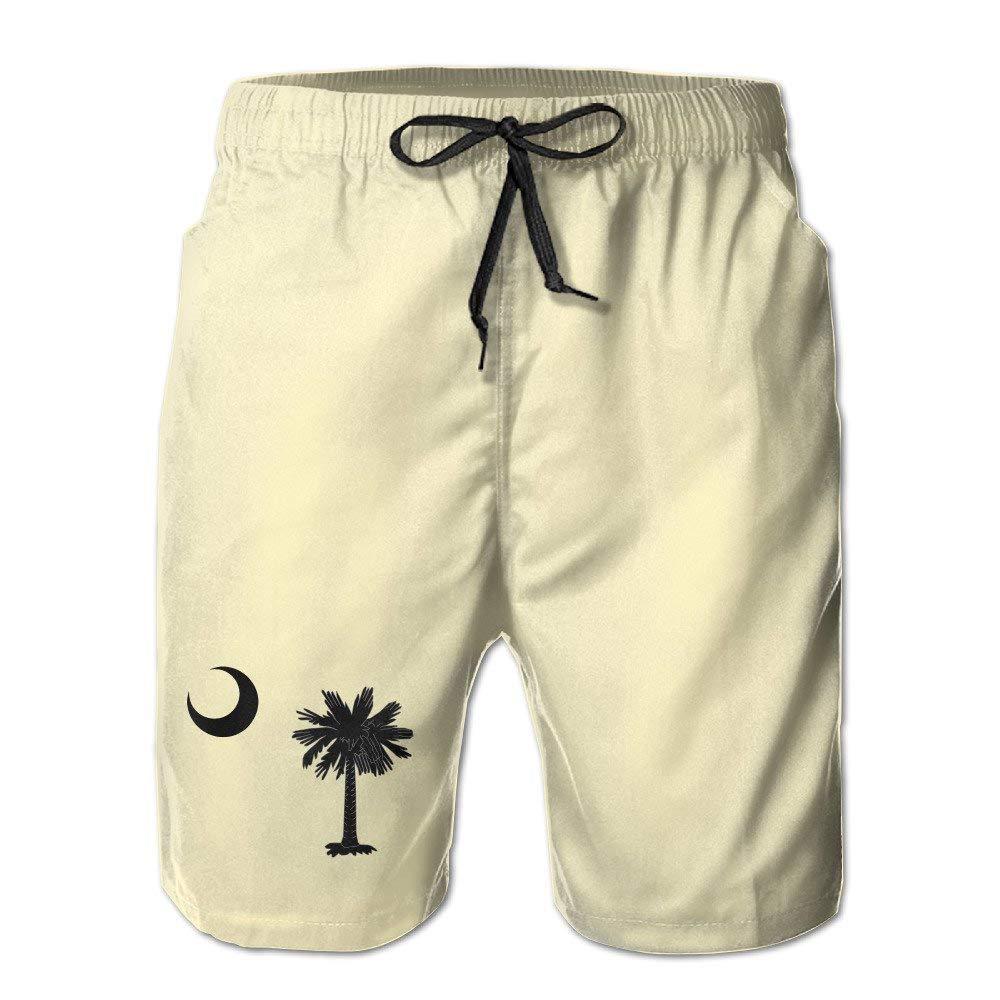 South Carolina State Flag Boardshort Casual Beach Shorts for Men