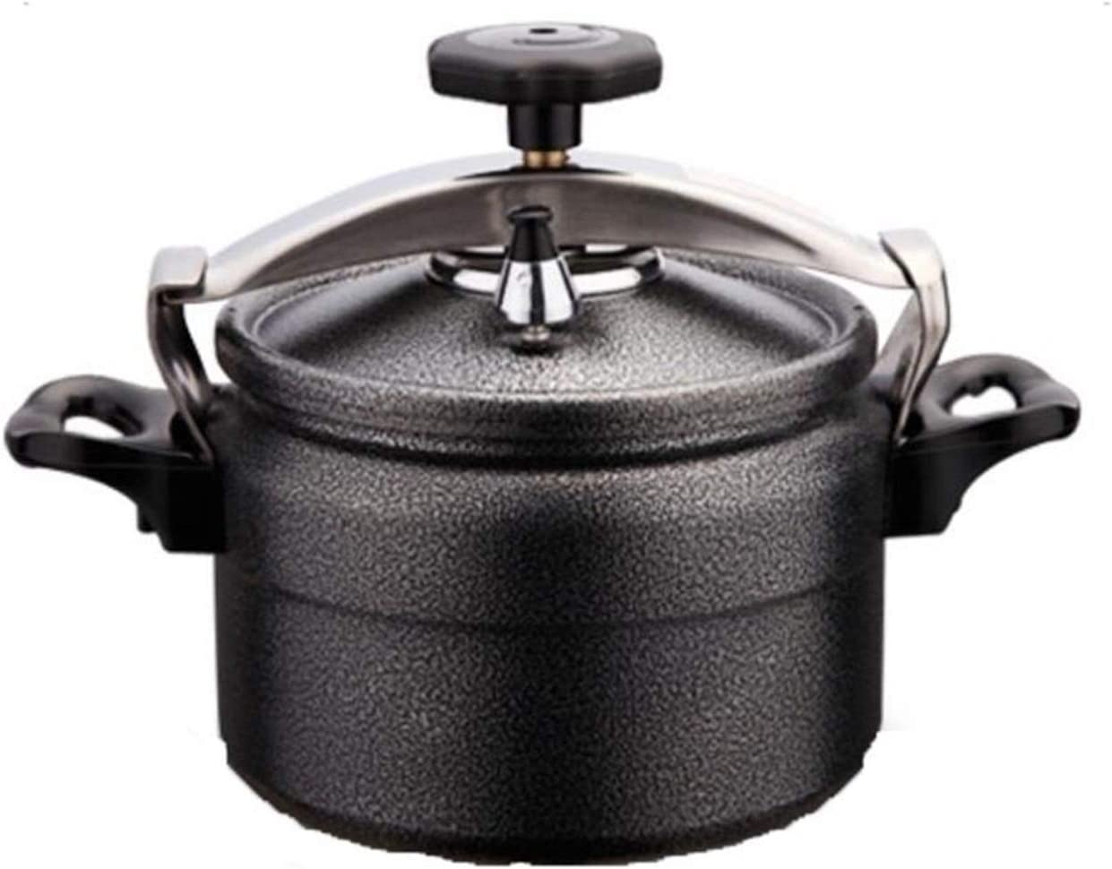 Outdoor pressure cooker, thickened reinforced aluminum explosion-proof Pressure cooker, high altitude available cooking pot, outdoor drinking utensils 3L, 4L, 5L (Color : Black, Size : 4L)