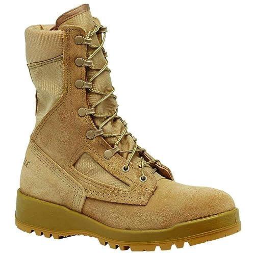 ccfee88bfcb2 Belleville Men's Hot Weather Combat Boot Desert Tan Finish 390DES 10.5  Narrow