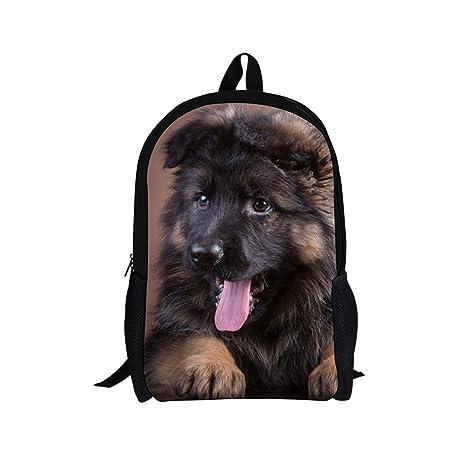 ae359c6d0d Children School Backpack Cute 3D Animal German Shepherd Printed Student  Schoolbags Casual Kids Backbag Bolsa Girls