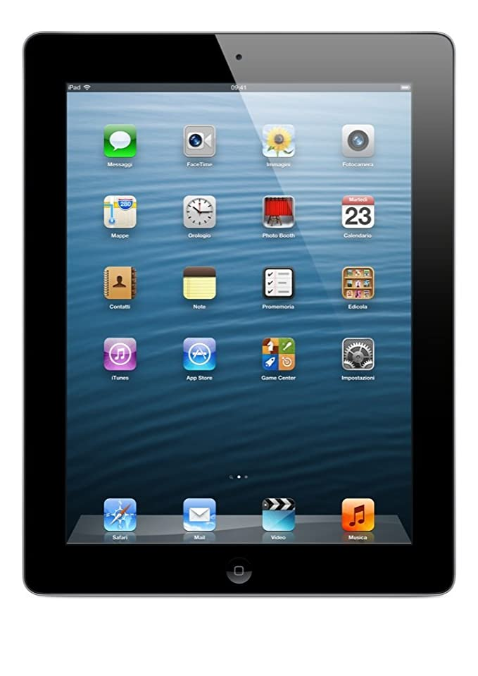 Apple iPad 4 (16 GB, Wi-Fi, A6X, Tablet 24,6 cm (9,7in), 2048 x 1536 Pxeles) Color Negro (Reacondicionado)