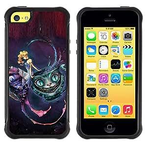 """Pulsar iFace Series Tpu silicona Carcasa Funda Case para Apple iPhone 5C , Sueño del cuento de hadas del gato mágico vestido de niña Cara"""""""