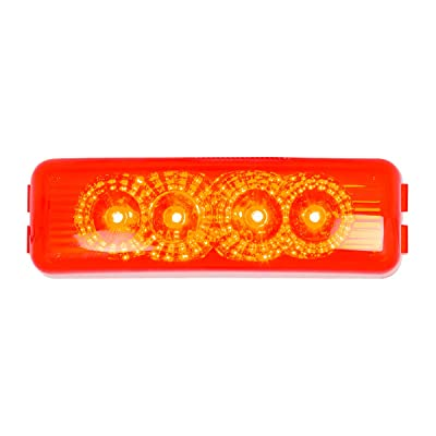GG Grand General 77962 Red/Red LED Light (Rectangle Spyder 4, Lens): Automotive