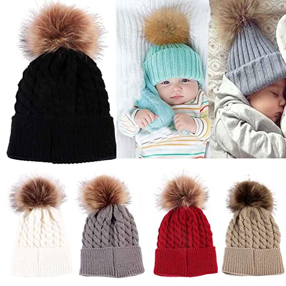 DEELIN Moda Bebé Tejer Mantener Sombreros De Sombrero Caliente con ...