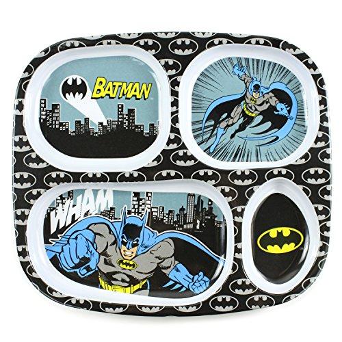 Bumkins DC Comics Divided Melamine Plate, Batman (Batman For Toddlers)