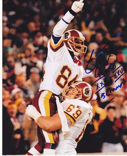 Gary Clark Washington Redskins Sb Champs Xxii & Xxvi Signed 8x10 Photo ()