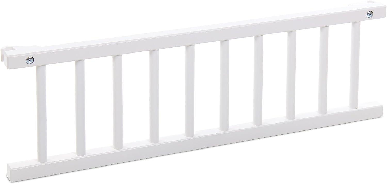 Barrera de seguridad para cuna Babybay 100202 color blanco importado de Alemania