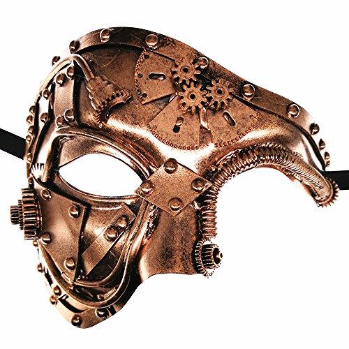 CCUFO Steam Punk Phantom Of The Opera Vintage Bronze Mechanical Men Venetian Mask For Masquerade/Party/Ball Prom/Mardi Gras/Wedding/Wall - Of Opera Phantom Masquerade The Ball