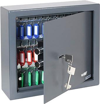 Antracita /11/Llave Caja fuerte 48/ganchos 36/x 30/x 10/cm armario de llaves con doble Barba Candado /2948/ HMF/