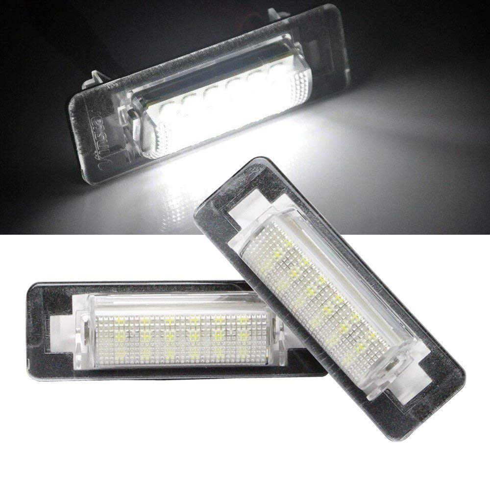 JX TK 1 Pair Bright Led License Plate Number light Lamps Replacement for Mercedes Benz C Class W202 W210